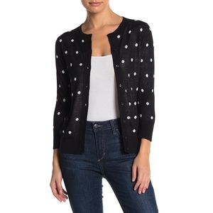 NWT Halogen Crew Neck Front Button Cardigan MP